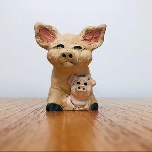 Vintage Pig Miniature Figurine